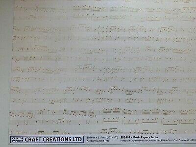 £1.40 • Buy Craft Creation 12 X 12 Paper - Music Papers