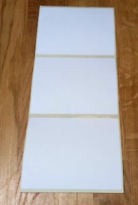 Large Plain White Sticky Self Adhesive Postage Parcel Labels 100 X 75mm. 4 X 3  • 1.99£