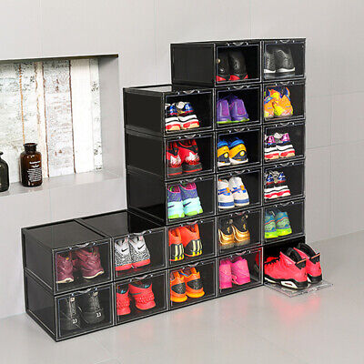 $199.39 • Buy Mens Shoes Box Plastic Stackable Sneaker Container Storage Heavy Duty Organizer