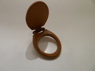 Dolls House Miniature 1:12th Scale Bathroom Accessory Walnut Toilet Seat Only • 2.16£