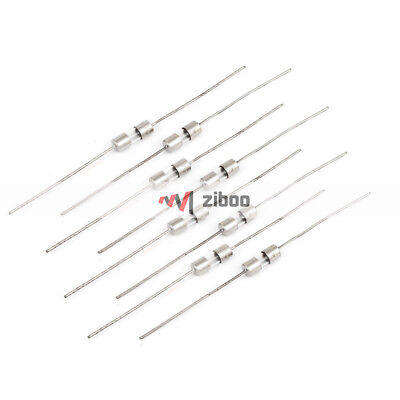 $ CDN7.27 • Buy 10Pcs 3mm X 10mm Axial Leads Fast Acting Glass Fuses Tube 1Amp 250V Silver Tone