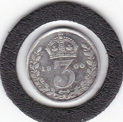 $0.99 • Buy Older  Head  1900   Queen  Victoria  Threepence  (3d)  Silver (92.5%) Coin