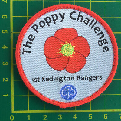 £5 • Buy The Poppy Challenge Badge Patch Rangers Guides Brownies Sew Camp Blankets