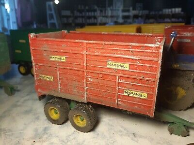 Rare Britains Conversion Weathered Marshall Silage Trailer  For Tractor Siku  • 40£