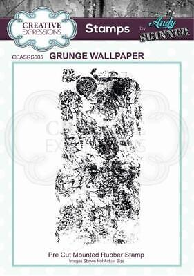 £3.57 • Buy Creative Expressions - Andy Skinner - Stamp - Grunge Wallpaper
