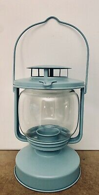 $12 • Buy Ikea Metal  Candle Lamps Glass Shade 8  Clear Blue