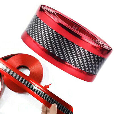 $17.99 • Buy Accessorie 5D Car Stickers Carbon Fiber Rubber Door Sill Rubber Protector Parts