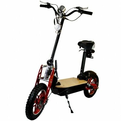 £499 • Buy Zipper Foldable Electric Scooter 1000w Padded Seat Steel Frame Wooden Deck