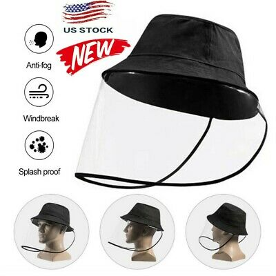 $5.39 • Buy Fisherman Cap + Protective Mask Clear Saliva-proof Dust-proof Sun Visor Hat  DA
