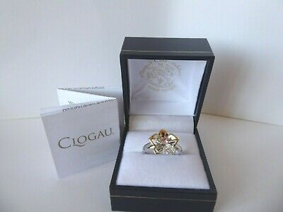 Clogau Gold, Silver & 9ct Rose Gold Orchid Ring, Size M RRP £169 • 65£