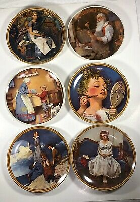 $ CDN42.50 • Buy Lot Of 6 Vintage Norman Rockwell Collector Plates W/Certificates Of Authenticity