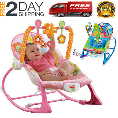 Baby Infant To Toddler Bouncer Rocker Swing Chair Soft Soothing Music Vibration • 28.96£