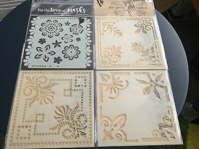 Stencils/love Of Masks Assorted  Themes  X 4 Hunkydory New And Sealed (2) • 5£
