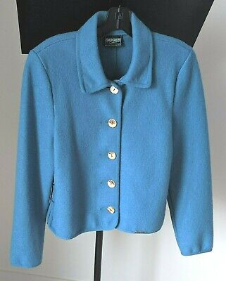 $25 • Buy GEIGER Austria Women's Blue 100% Wool Jacket,  EU Size 38 (US 6)