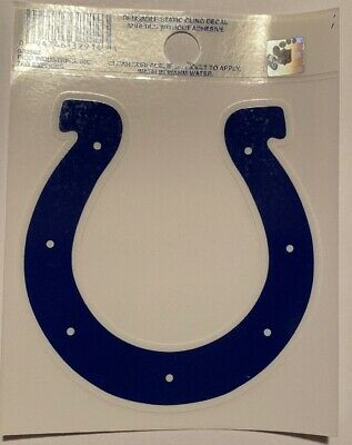 $1.79 • Buy New Indianapolis Colts Logo Reusable Static Cling Decal Sticker NFL Football