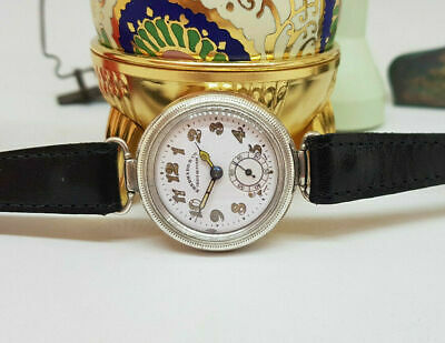 Rare 1920's The First Eberhard & Co., Chaux-de-fonds Hermetic Solid Silver Watch • 3,500£