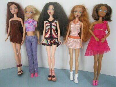 $34.99 • Buy 5 My Scene Dolls, Clothes & Shoes Mixed, Ginger Hair & Green Eyes, Clean Lot #4!