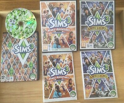 The Sims 3 Base Game + 2 Expansion Packs. PC Mac. Ambitions & World Adventures • 7.50£