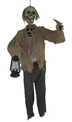 $62.99 • Buy Life Size Skeleton W Lighted Lantern Halloween Prop Haunted Decor Spirit Outdoor