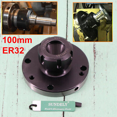 ER-32 Collet Chuck 100MM DIAMETER Compact Lathe Tight Tolerance For Milling UK • 53.21£