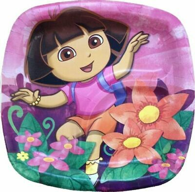 DORA THE EXPLORER Floral SMALL PLATES & NAPKINS Birthday Party Supplies Cake NEW • 4.94£