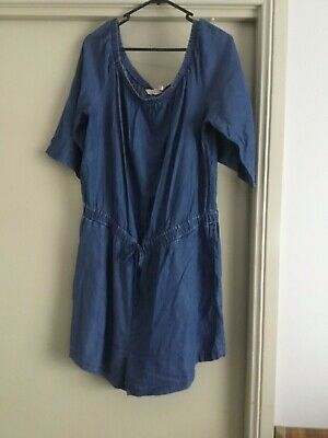AU13.95 • Buy Ladies Blue Denim All In One Shorts Jumpsuit Size 18 From Millers Woman