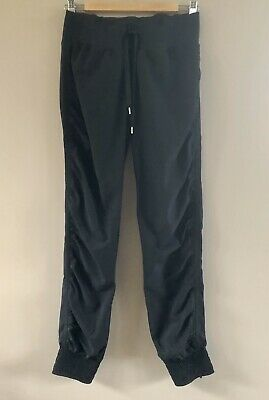 AU20 • Buy Lorna Jane Black Dance Pants With Ruched Sides And Gathered Cuffs