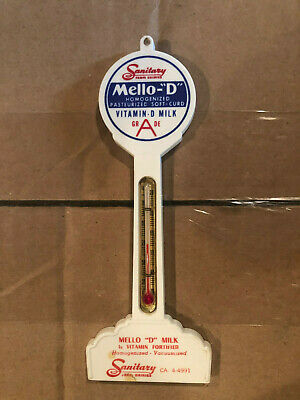 $85 • Buy 1950s-60s SANITARY DAIRY  MELLO-D  MILK   POLE  THERMOMETER