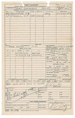 $4725 • Buy Neil Armstrong - Document Double Signed 06/25/1964