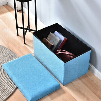 Folding Storage Ottoman Seat Stool Storage Boxes Chair Footstool Bench With Lid  • 14.99£