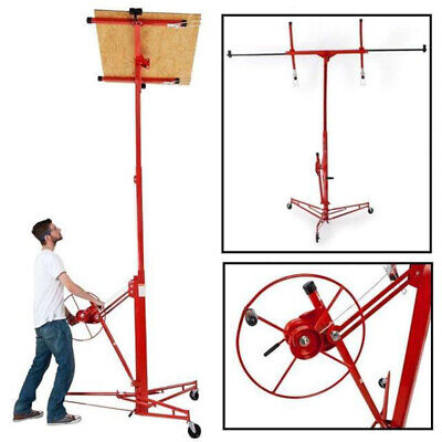 11FT Mobile Drywall Lift Lifter Plaster Board Panel Hoist Jack Tool Lifting Red • 199.14£