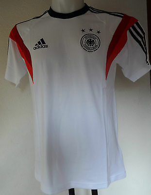 Germany S/s White Training Tee Shirt By Adidas Size Men's Small Brand New  • 19.99£
