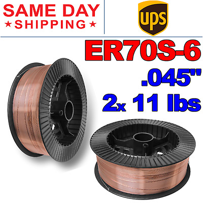 $41.20 • Buy ER70S-6 .045  (1.2 Mm) Mild Steel MIG Welding Wire - 11 Lbs (2 Rolls)