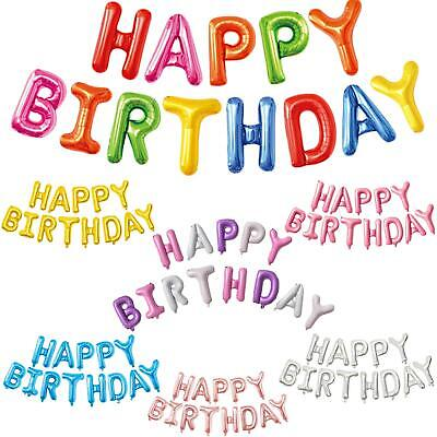 £2.70 • Buy Happy Birthday Balloons Bunting Banner Self Inflating Foil Letter Decorations UK