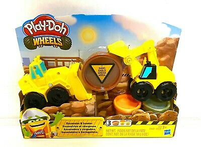 $14.95 • Buy Play-Doh Wheels Excavator And Loader Toy Construction Trucks.