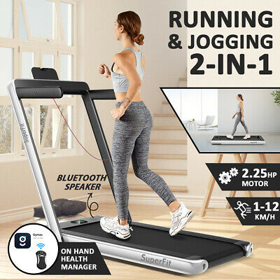 AU539 • Buy 2 IN 1 Electric Treadmill Folding Compact Home Gym Running Exercise Machine