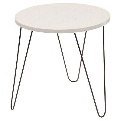 MDF Rustic Round Wooden Coffee Dressing Bed Side Table Black Metal Hairpin Legs  • 17.99£
