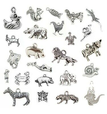 ANIMALS Tibetan Silver CHARMS Necklace Bracelet Jewellery Making Bird Insects UK • 2.50£