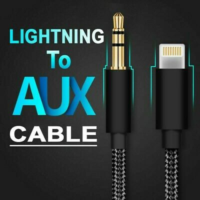 AU5.45 • Buy Aux To Lightning Braided Cable 1 Meter Black Music Cable For Apple IPhone Xs 7 8
