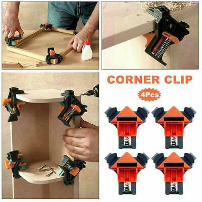 $14.29 • Buy 4Pcs Carpenter 90° Degree Right Angle Picture Frame Corner Clamp Woodworking Set