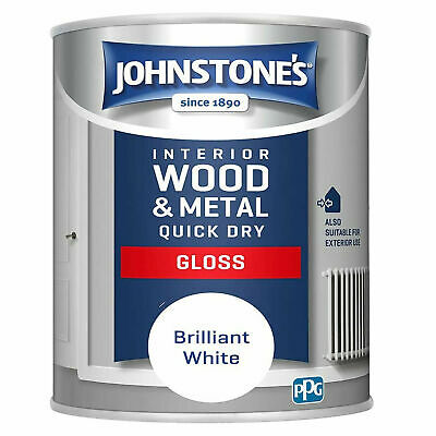 £13.99 • Buy Johnstone's 1.25 Litre Interior Wood Metal Quick Dry Gloss White Paint LOW ODOUR