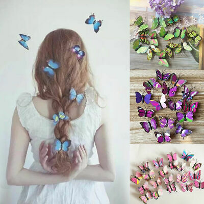$ CDN1.19 • Buy Butterfly Hair Clips Bridal Hair Accessories Wedding Photography Costume 20 2020