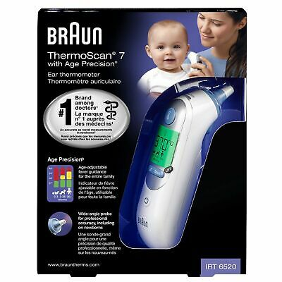 AU119.18 • Buy Braun ThermoScan 7 IRT6520 Digital LCD Ear Thermometer For Kids & Adults