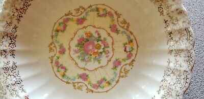 $4.99 • Buy Sebring Pottery Co. China Bouquette Serving Bowl 22K Gold Design With Roses