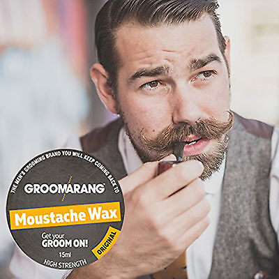 Groomarang Moustache Wax High Strength Best Grooming Shaping Styling Beard Care • 6.99£