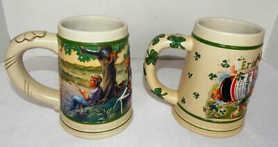 $ CDN33.27 • Buy Lot Of 2 St Patrick's Day 3-D BUDWEISER BEER STEINS - 1998 - 1999