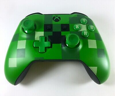 AU119.95 • Buy Xbox One MINECRAFT CREEPER Wireless Controller - Green Limited Edition