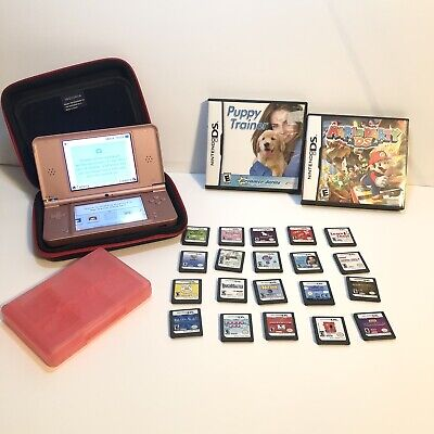 $129.99 • Buy Nintendo DSi XL Rose Pink Video Game Syst W/Charger 22 Games+Mario+Nintendo Dogs