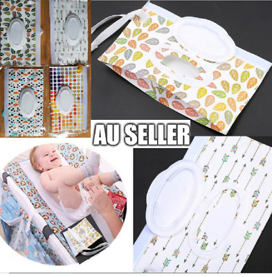 AU6.99 • Buy EVA Baby Wet Wipe Pouch Wipes Holder Case Reusable Refillable Wet Wipe Bag 2020