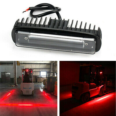 AU21.99 • Buy 6in Red 30W Forklift LED Light Bar Warehouse Fork Truck Warning Safety Work Lamp
